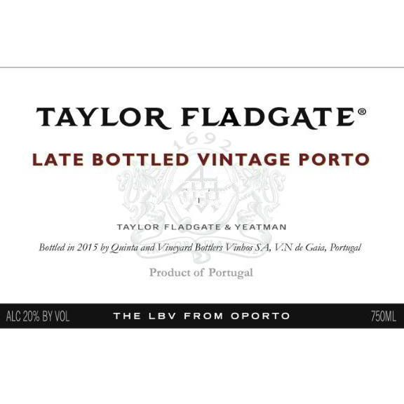 Taylor Fladgate Late Bottled Vintage Port 2012 Front Label