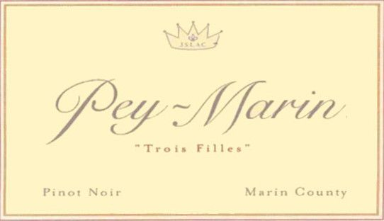 Scenic Root Winegrowers  Trois Filles Pinot Noir 2003 Front Label
