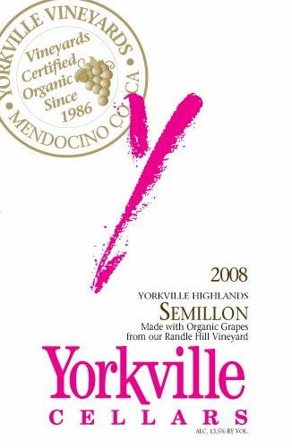 Yorkville Cellars Semillon 2008 Front Label