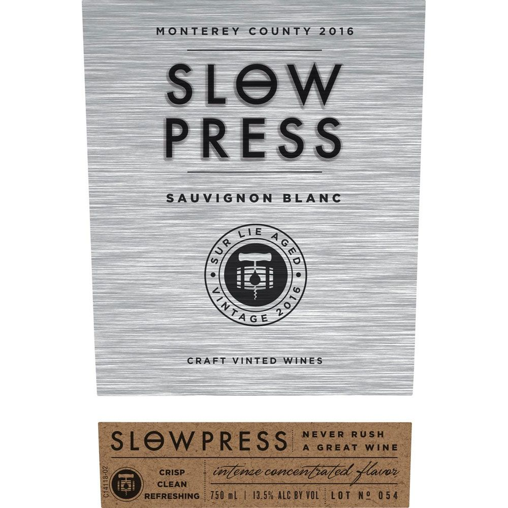 Slow Press Sauvignon Blanc 2016 Front Label