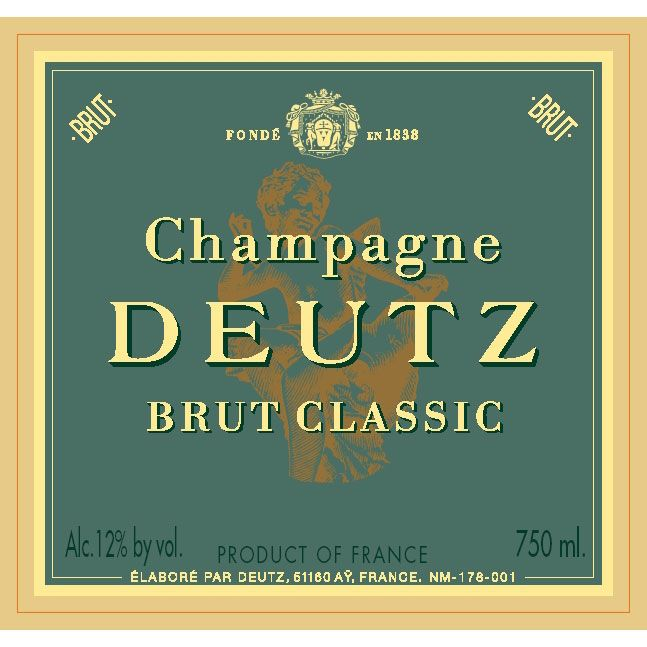 Deutz Brut Classic (375ML half-bottle) Front Label