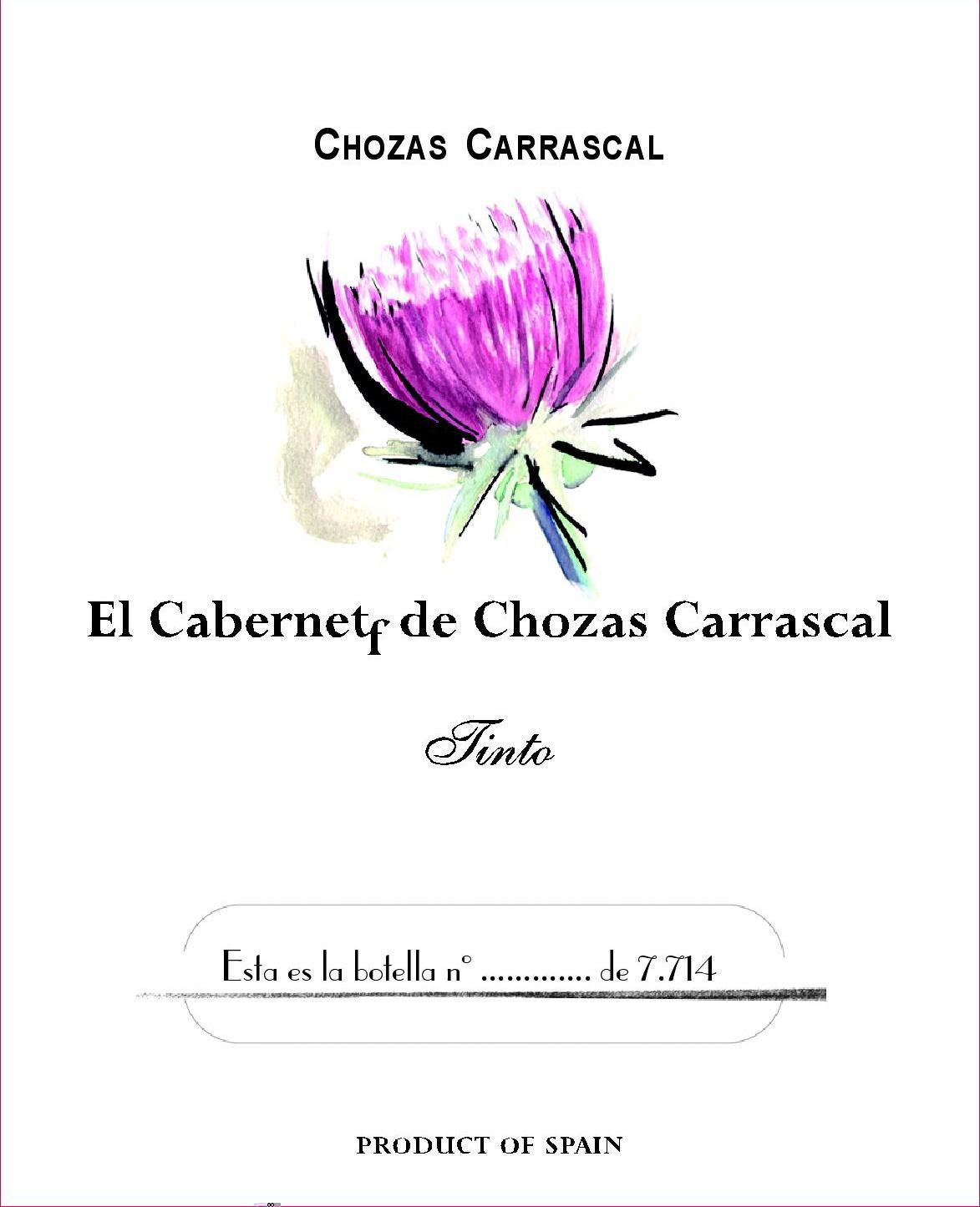 Carrascal Estate El Cabernet F Familiar 2008 Front Label