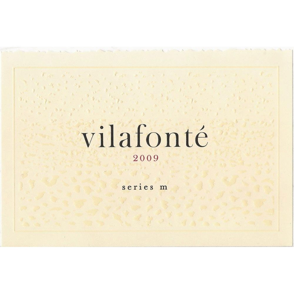 Vilafonte Series M 2009 Front Label