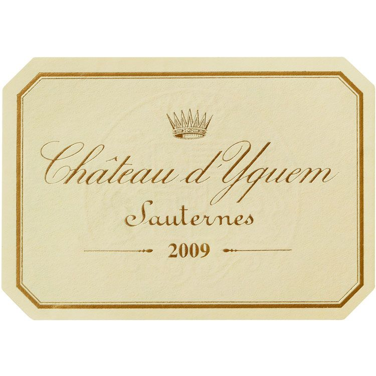 Chateau d'Yquem Sauternes (375ML half-bottle) 2009 Front Label