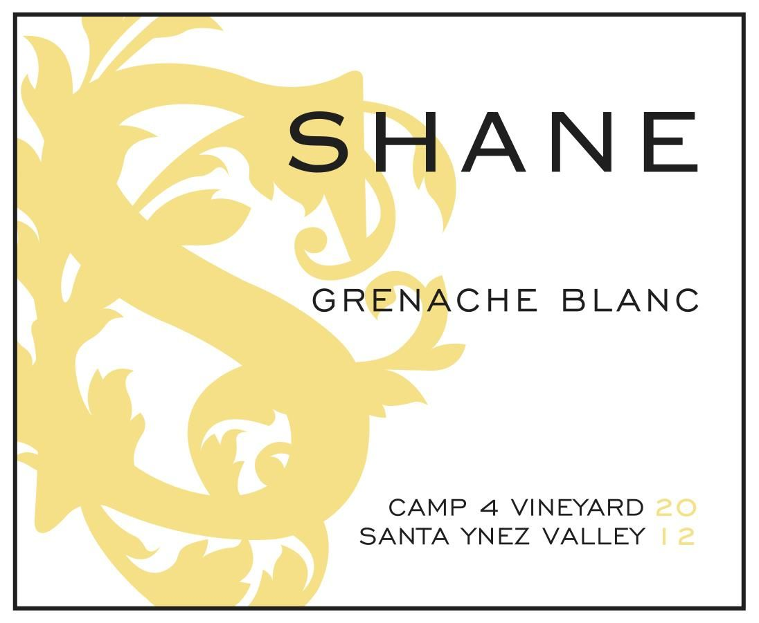 Shane Camp 4 Vineyard Grenache Blanc 2012 Front Label