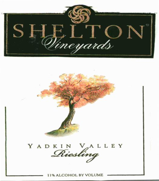 Shelton  Riesling 2015 Front Label