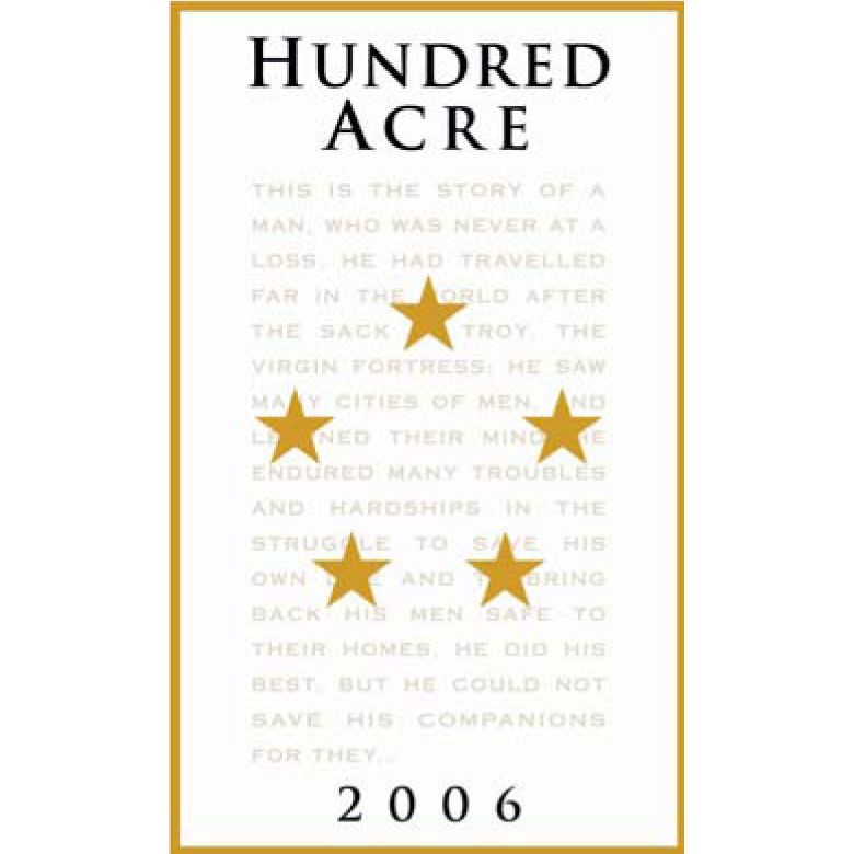 Hundred Acre Ancient Way Vineyard Summer's Block Shiraz 2006 Front Label
