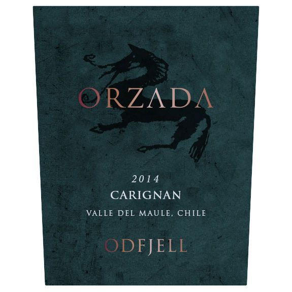 Odfjell Orzada Organic Carignan 2014 Front Label