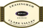 Leasingham Bin 61 Shiraz 1996 Front Label