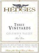 Hedges Family Estate Three Vineyards Red 1998 Front Label