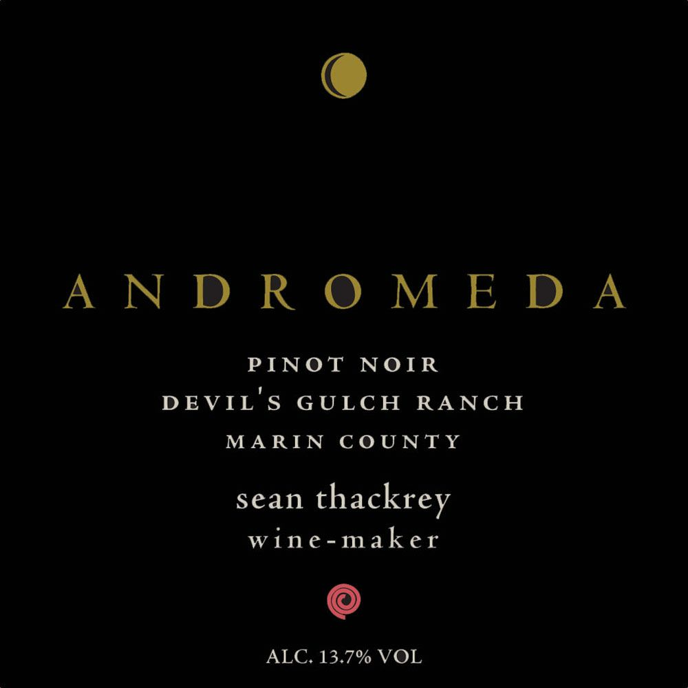 Sean Thackrey Andromeda Pinot Noir 2015 Front Label