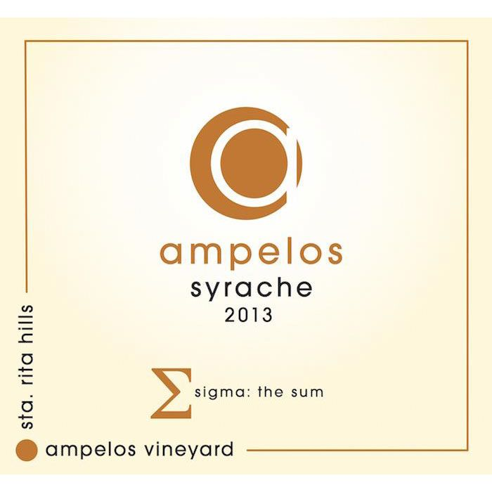 Ampelos Cellars Syrache 2013 Front Label