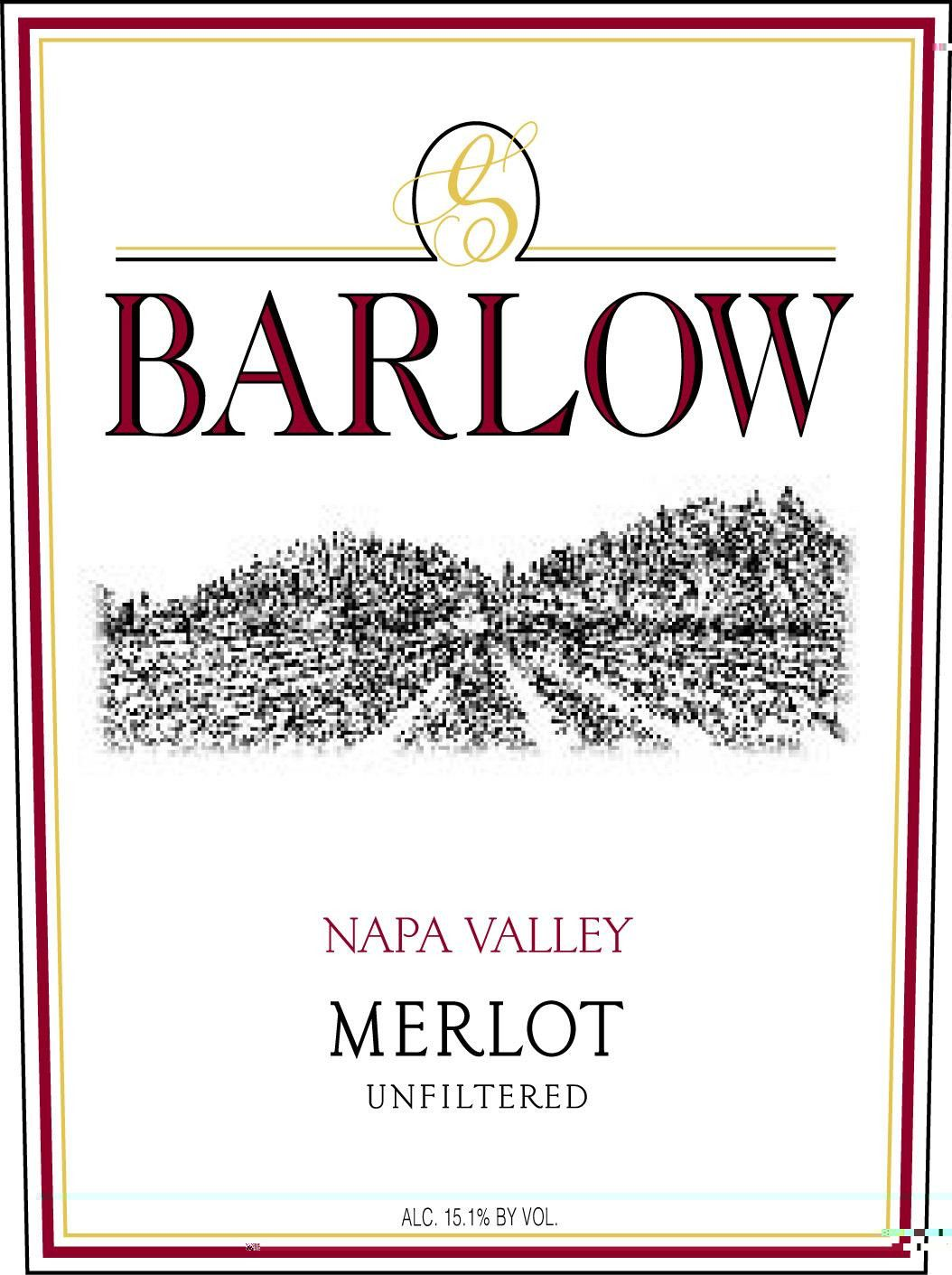 Barlow Unfiltered Merlot 2009 Front Label