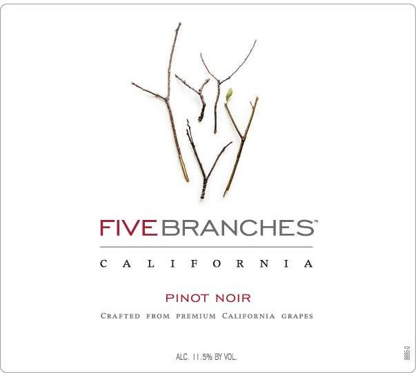 Five Branches Pinot Noir Front Label