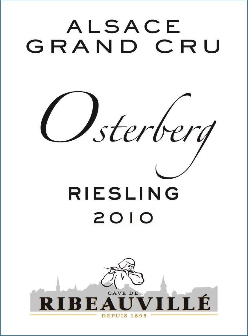 Cave de Ribeauville Riesling Osterberg Grand Cru 2010 Front Label