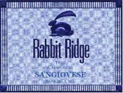 Rabbit Ridge Barrel Cuvee Sangiovese 1999 Front Label