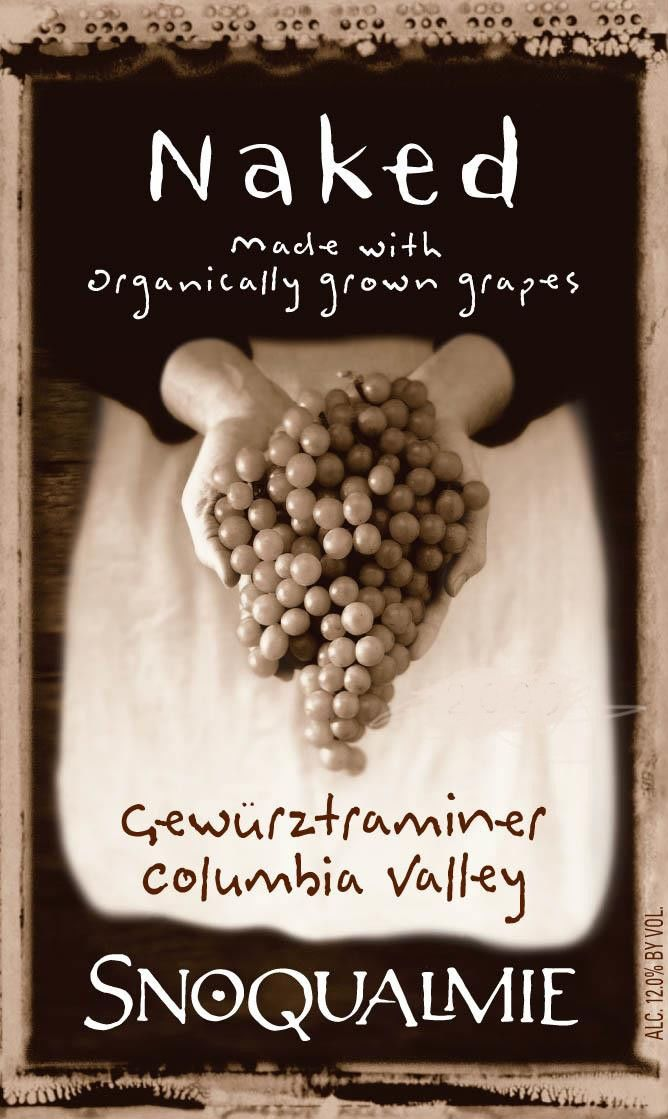 Snoqualmie Naked - Organic Gewurztraminer 2010 Front Label