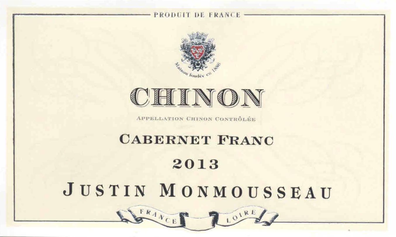 Caves Monmousseau Chinon 2013 Front Label