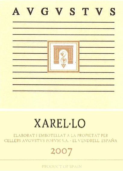 Cellers Avgvstvs Forvm Xarel.lo 2007 Front Label
