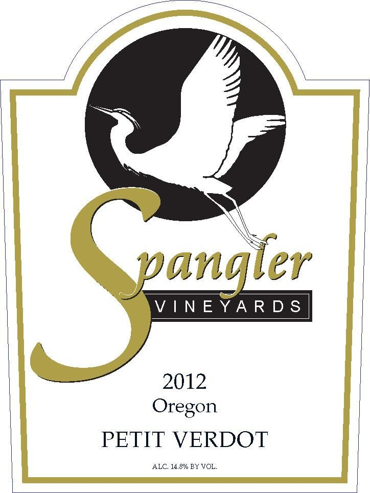 Spangler Vineyards Petit Verdot 2012 Front Label
