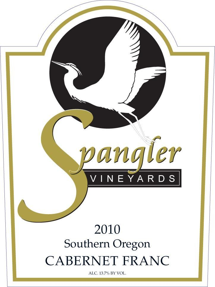 Spangler Vineyards Cabernet Franc 2010 Front Label