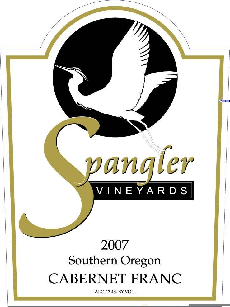 Spangler Vineyards Cabernet Franc 2007 Front Label