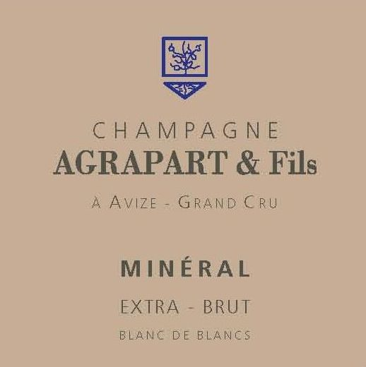 Champagne Agrapart & Fils Champagne Mineral Extra Brut Grand Cru Blanc de Blancs 2007 Front Label
