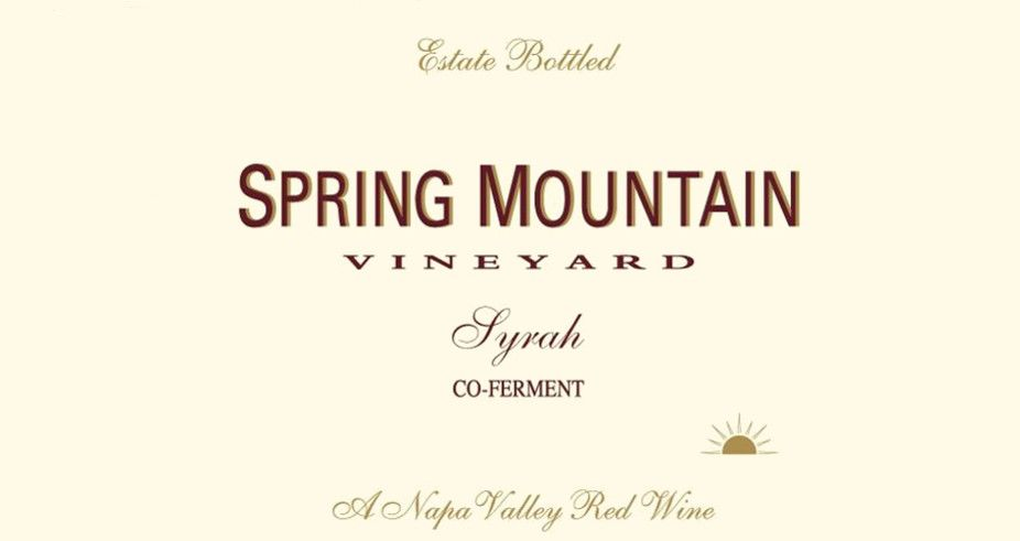 Spring Mountain Vineyard Co-Ferment Syrah 2005 Front Label