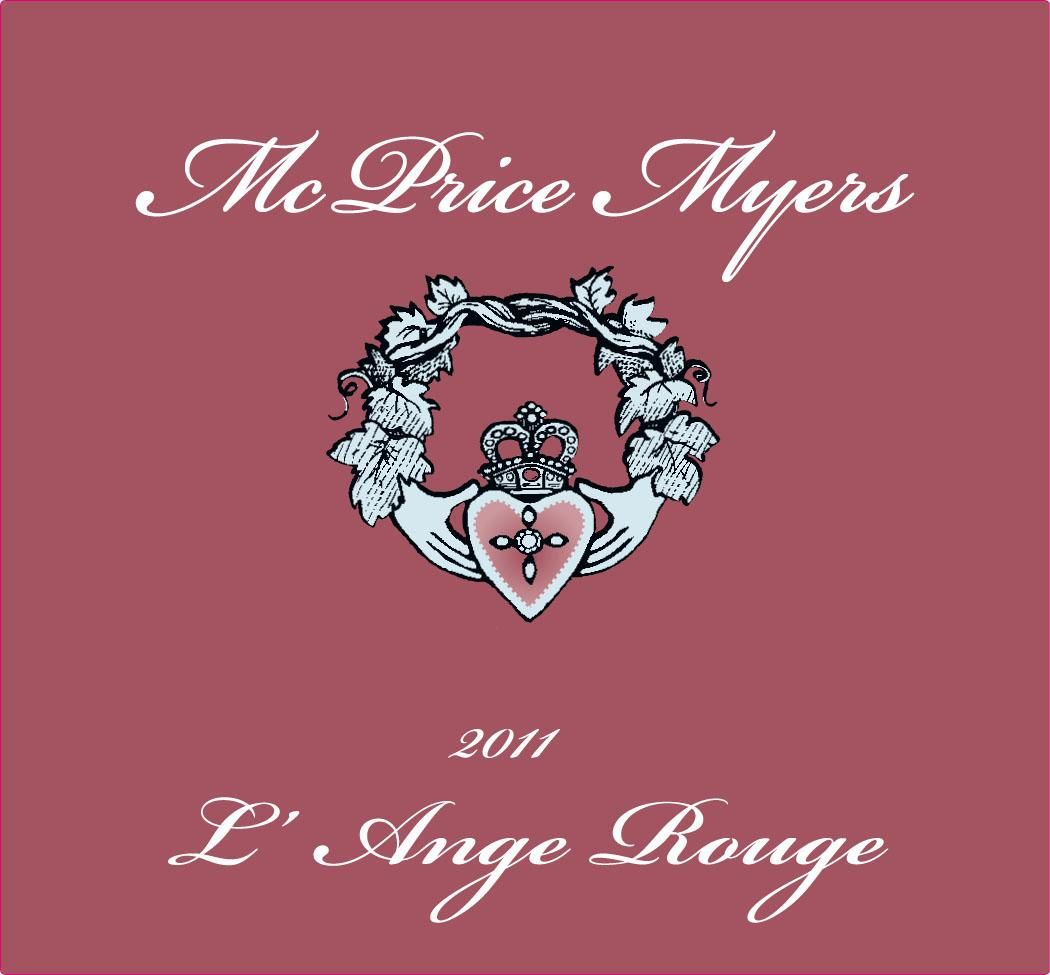 McPrice Myers L'Ange Rouge Grenache 2011 Front Label