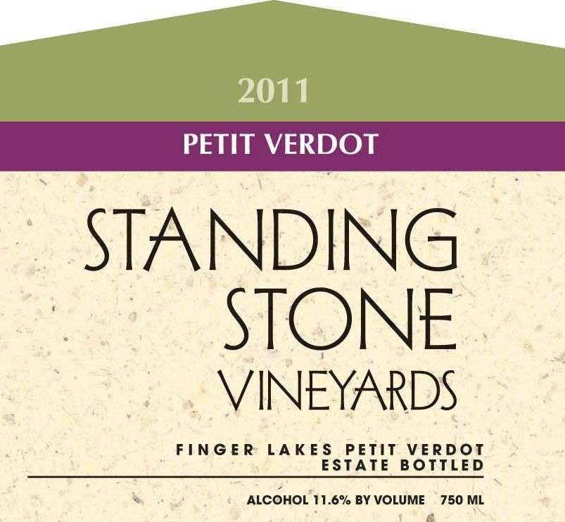 Standing Stone Vineyards  Petit Verdot 2011 Front Label