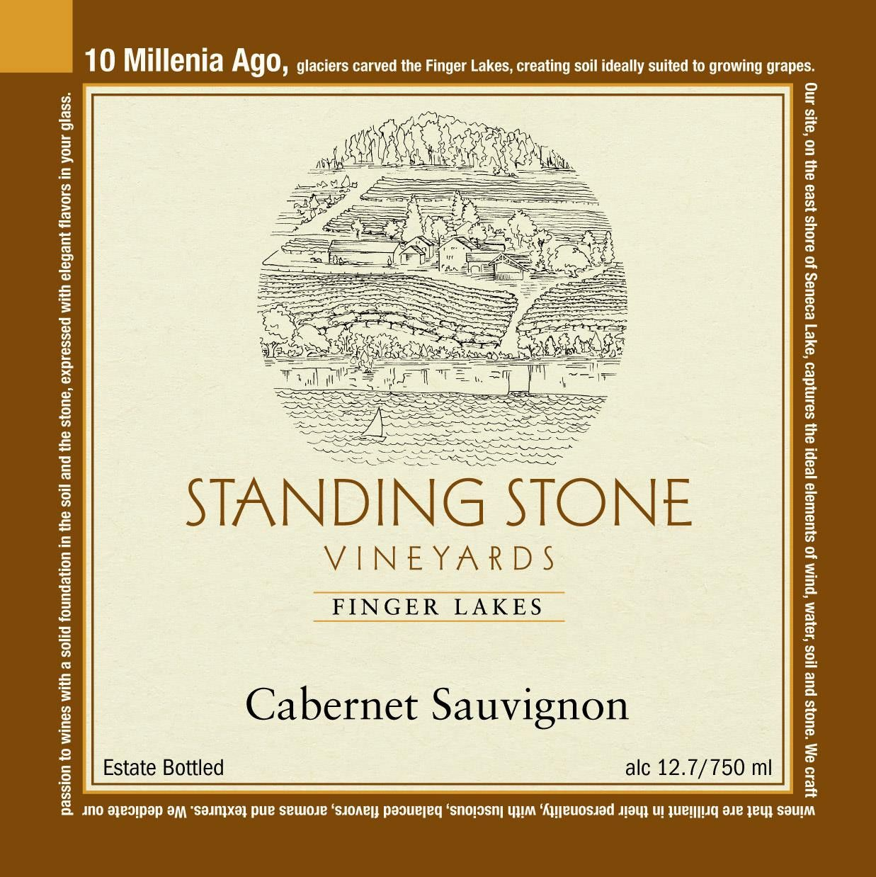 Standing Stone Vineyards Cabernet Sauvignon 2014 Front Label