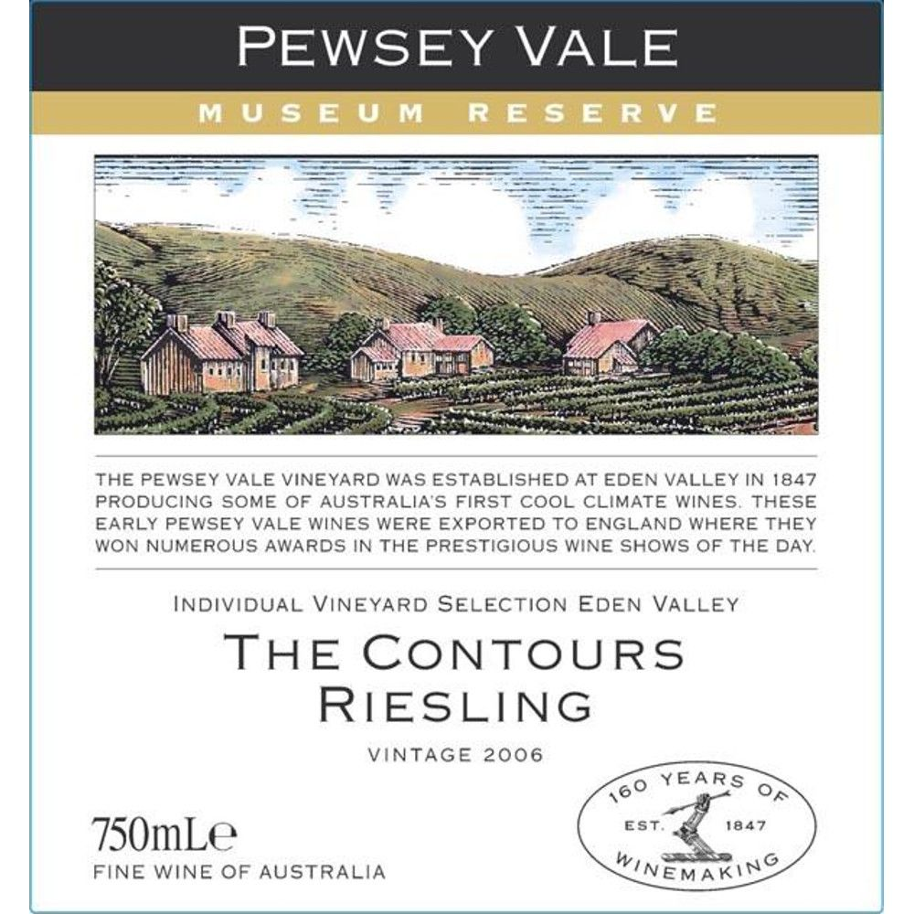Pewsey Vale Museum Reserve The Contours Riesling 2006 Front Label