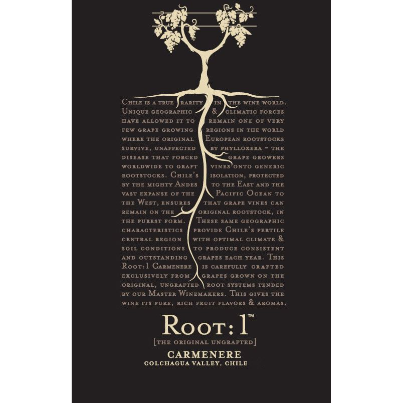 Root 1 Carmenere 2015 Front Label