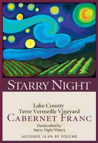 Starry Night Winery Terre Vermeille Vineyard Cabernet Franc 2011 Front Label