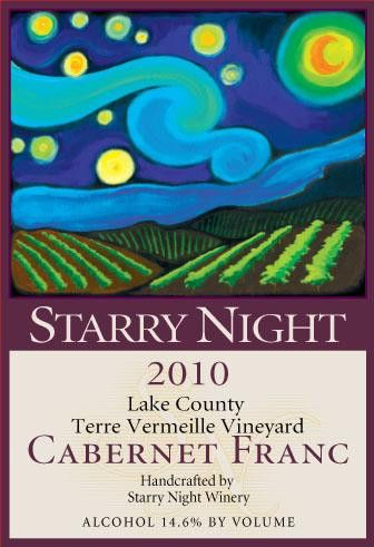 Starry Night Winery Terre Vermeille Vineyard Cabernet Franc 2010 Front Label