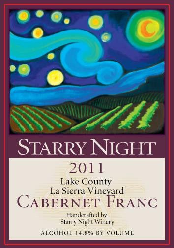 Starry Night Winery La Sierra Vineyard Cabernet Franc 2011 Front Label