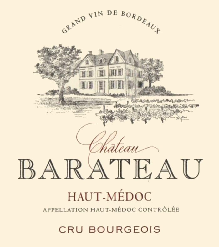 Chateau Barateau Haut-Medoc 2013 Front Label