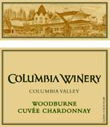 Columbia Winery Woodburn Cuvee Chardonnay 1999 Front Label