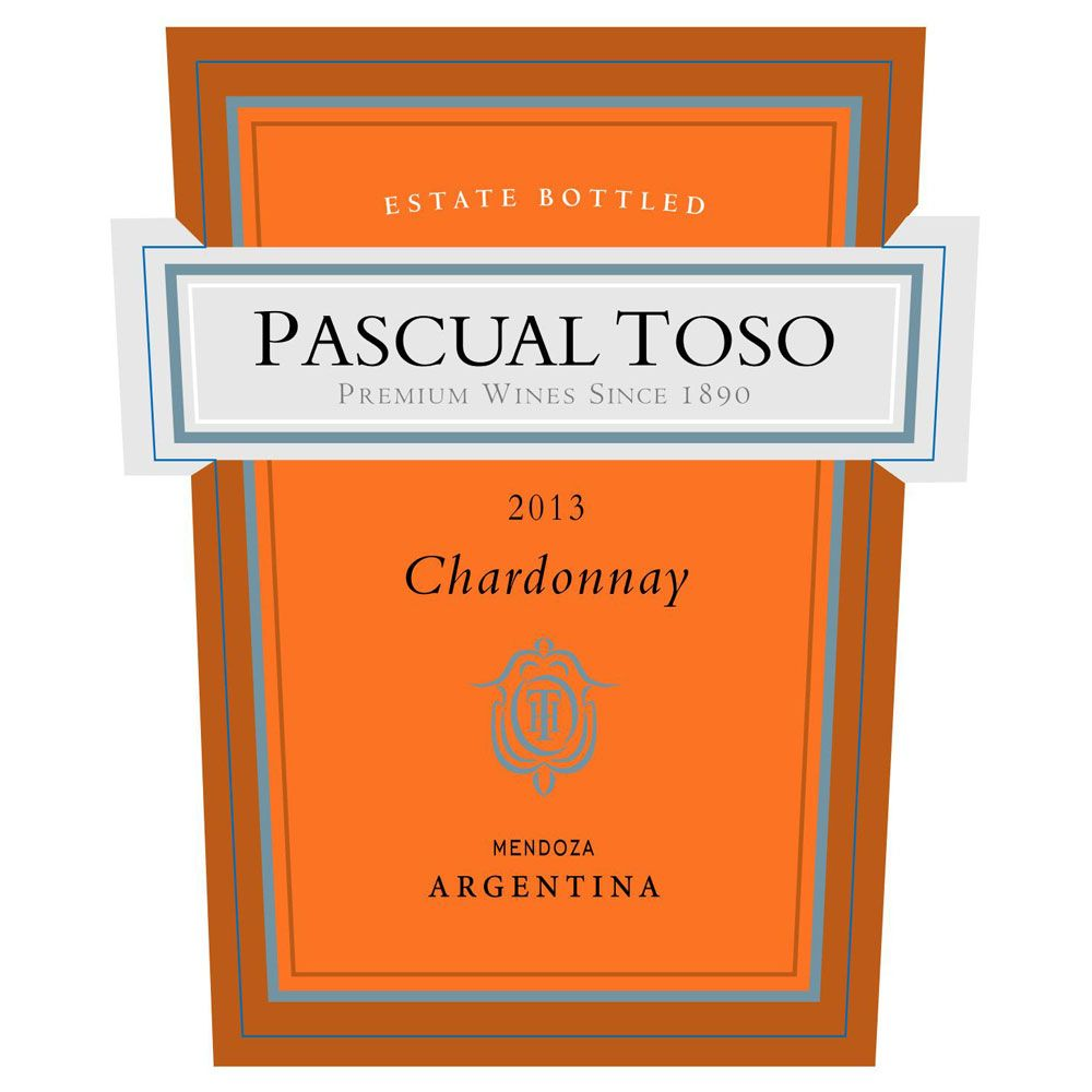 Pascual Toso Estate Chardonnay 2013 Front Label