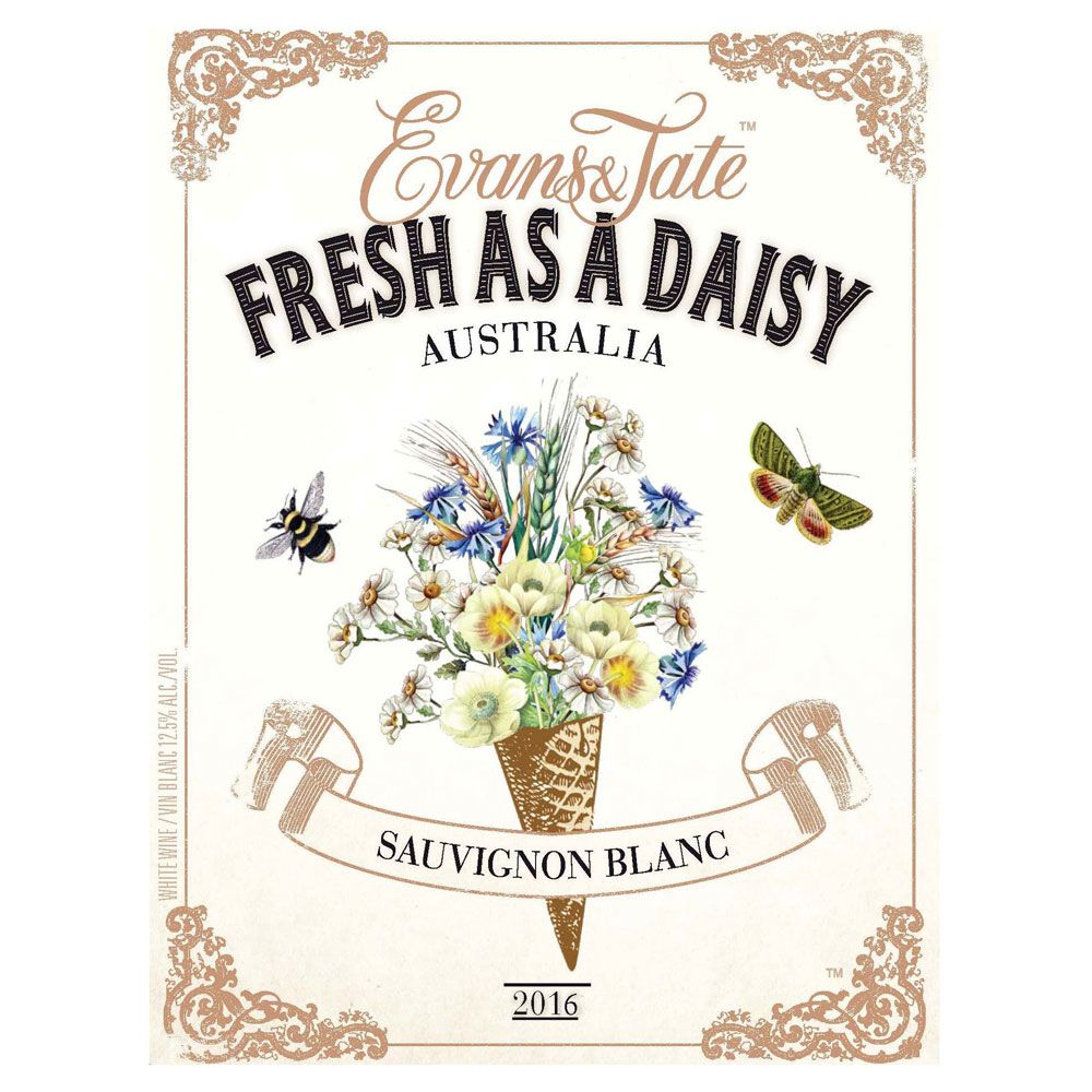 Evans & Tate Fresh as a Daisy Sauvignon Blanc 2016 Front Label