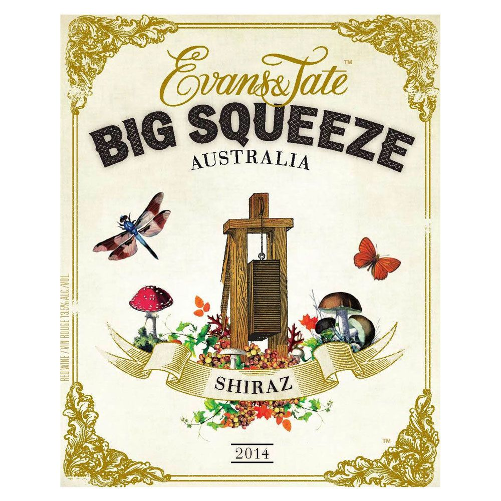 Evans & Tate Big Squeeze Shiraz 2014 Front Label