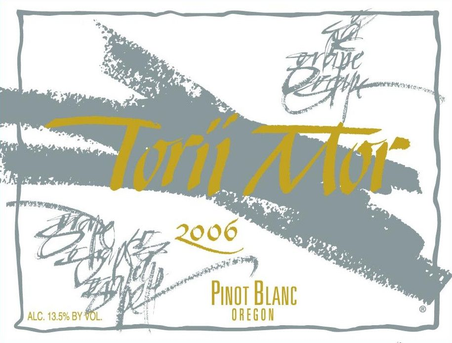 Torii Mor Pinot Blanc 2006 Front Label