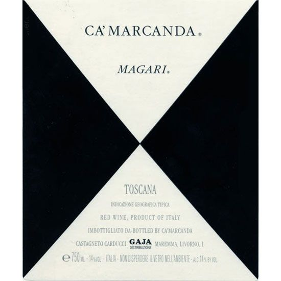 Gaja Ca' Marcanda Magari (375ML half-bottle) 2014 Front Label