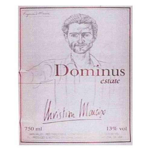 Dominus Estate (stained labels) 1992 Front Label