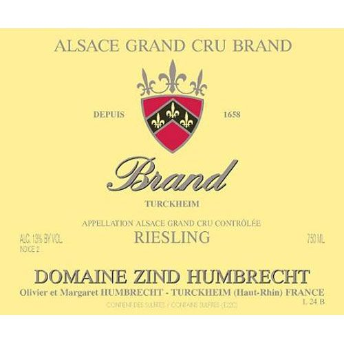 Zind-Humbrecht Brand Grand Cru Riesling 2015 Front Label