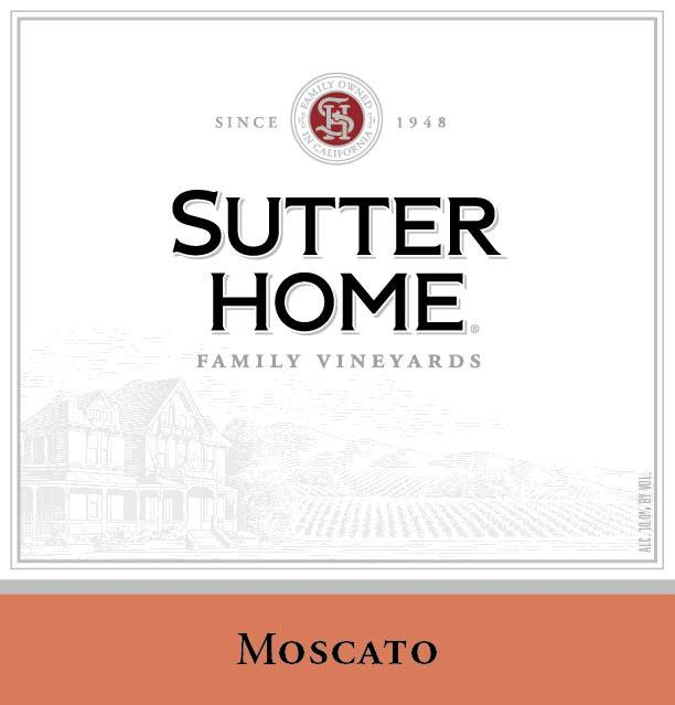 Sutter Home Moscato 2004 Front Label