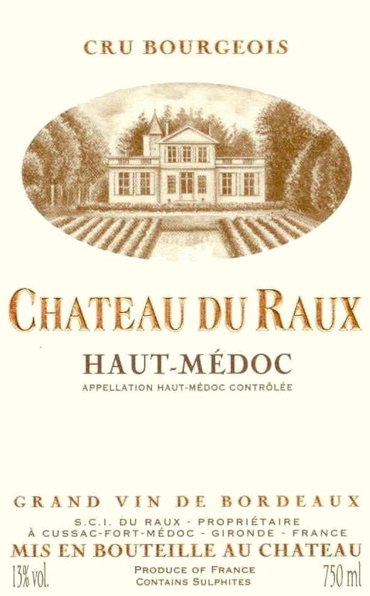 Chateau du Raux  2013 Front Label