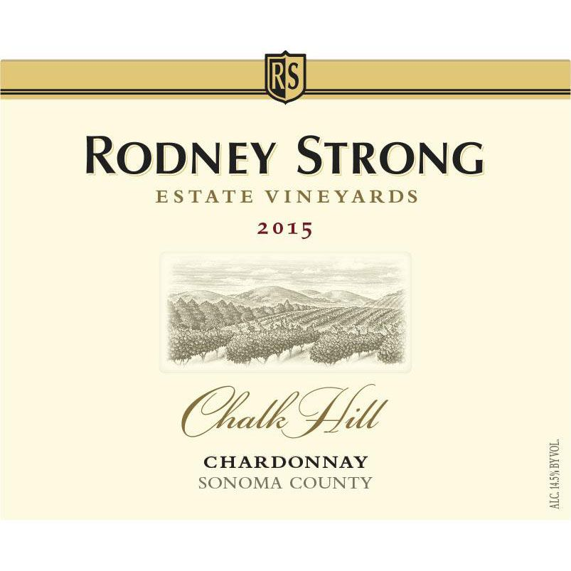 Rodney Strong Chalk Hill Chardonnay 2015 Front Label