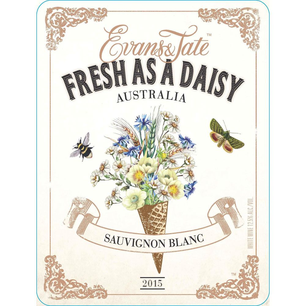 Evans & Tate Fresh as a Daisy Sauvignon Blanc 2015 Front Label