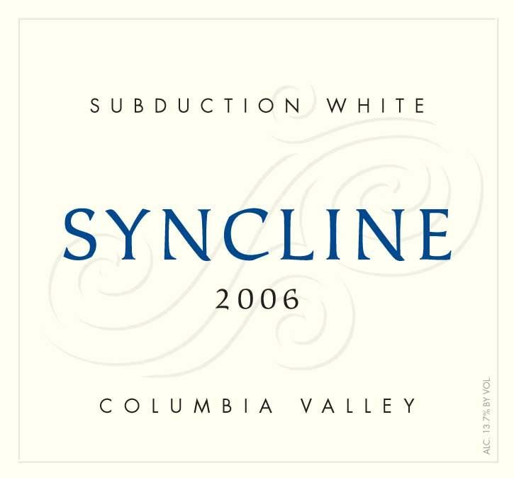 Syncline Subduction White 2006 Front Label